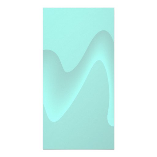 Pastel Turquoise Abstract Swirl Image. Personalized Photo Card