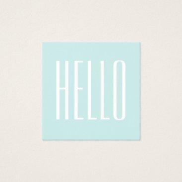 Professional Business Pastel turquoise / blue minimalist business card
