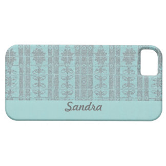 Pastel turquoise damask iPhone 5 cover