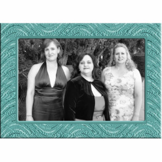 pastel turquoise  frame standing photo sculpture