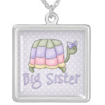Pastel Turtle Big Sister Personalized Necklace