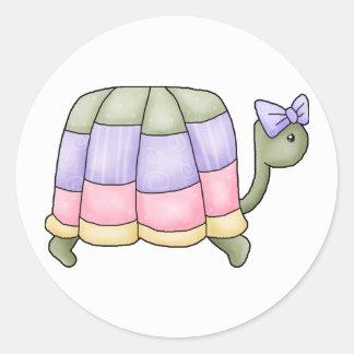 Pastel Turtle Classic Round Sticker
