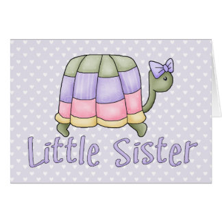 Pastel Turtle Little Sister Card