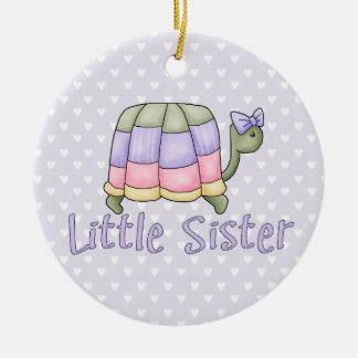 Pastel Turtle Little Sister Ceramic Ornament