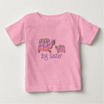 Pastel Turtles Big Sister Baby T-Shirt