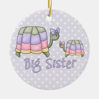Pastel Turtles Big Sister Ceramic Ornament