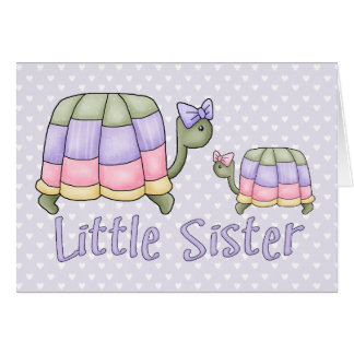 Pastel Turtles Little Sister Card