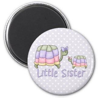 Pastel Turtles Little Sister Magnet