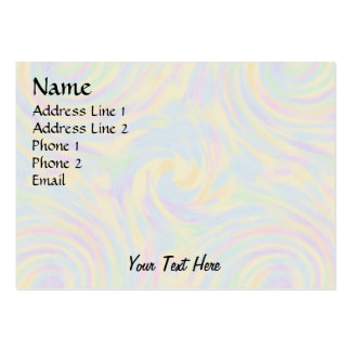 Pastel Twirl Large Business Cards (Pack Of 100)