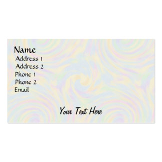 Pastel Twirl Double-Sided Standard Business Cards (Pack Of 100)