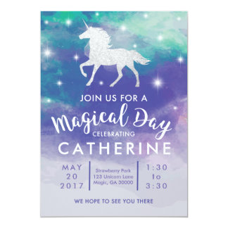Pastel Unicorn Birthday Invitation