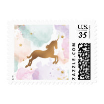 Pastel Unicorn Birthday Party Postage
