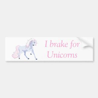 Pastel Unicorn Pink and Blue Bumper Sticker