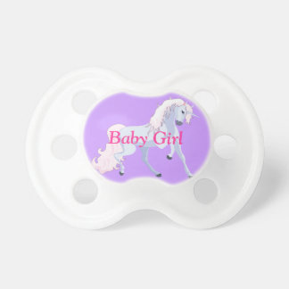 Pastel Unicorn Pink and Blue Pacifier