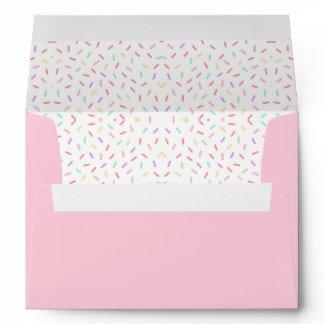 Pastel Unicorn Sprinkle Baby Shower Invitation Envelope