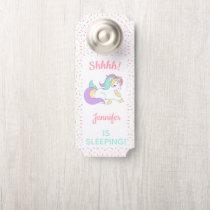 Pastel Unicorn Sprinkle Shhh! Baby Is Sleeping Door Hanger