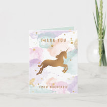 Pastel Unicorn Thank You
