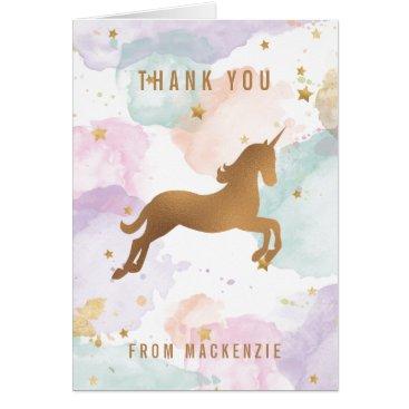 ClementineCreative Pastel Unicorn Thank You Card