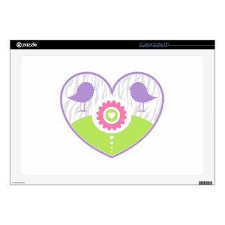 """Pastel Valentine Heart 17"""" Laptop Decals"""