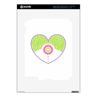 Pastel Valentine Heart Decal For iPad 3