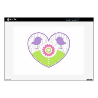 Pastel Valentine Heart Laptop Skins