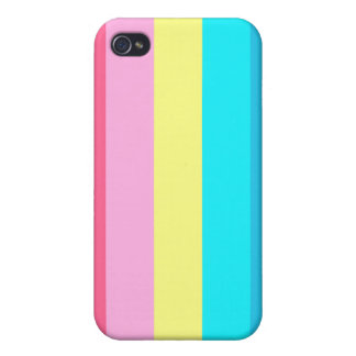Pastel Vertical Stripes iPhone 4 Case