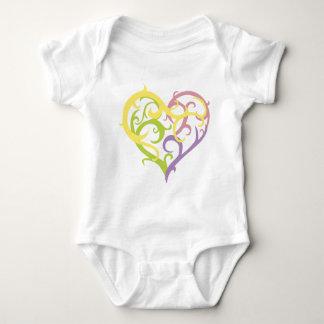 pastel vine tattoo heart baby bodysuit