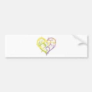 pastel vine tattoo heart bumper sticker