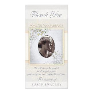 Pastel Vintage Flowers Sympathy Thank you Card