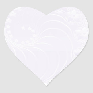 Pastel Violet Abstract Flowers Heart Sticker