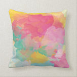"Pastel water color pink yellow aqua decor pillow<br><div class=""desc"">Customize &amp; Personalize your whole world With A Wide Variety of Unique Zazzle Products to Choose from. Find Or Create those one-of-a-kind gifts you just cant find anywhere else. Merchandising in Unique Customizable Apparel &amp; Unique Home Decor and much more. Inspired by the crisp Landscapes, Heritage&#39;s &amp; Cultures of the...</div>"