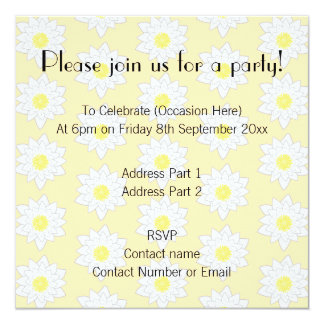 Pastel Water Lilies. 5.25x5.25 Square Paper Invitation Card