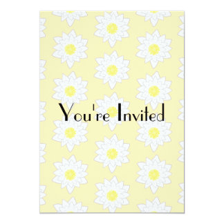 Pastel Water Lilies. 5x7 Paper Invitation Card