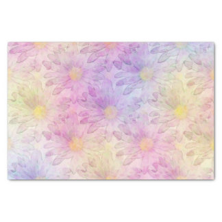 """Pastel Watercolor Daisy Pattern 10"""" X 15"""" Tissue Paper"""