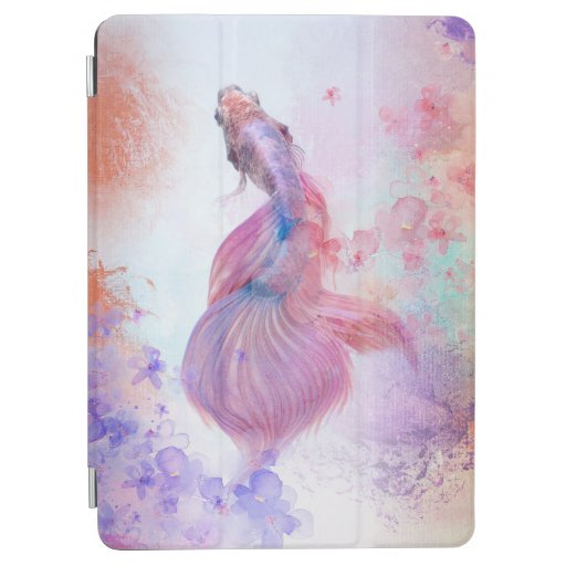 Pastel Watercolor Fish & Flowers iPad Air Cover