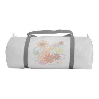 Pastel Watercolor Floral Design Gym Bag
