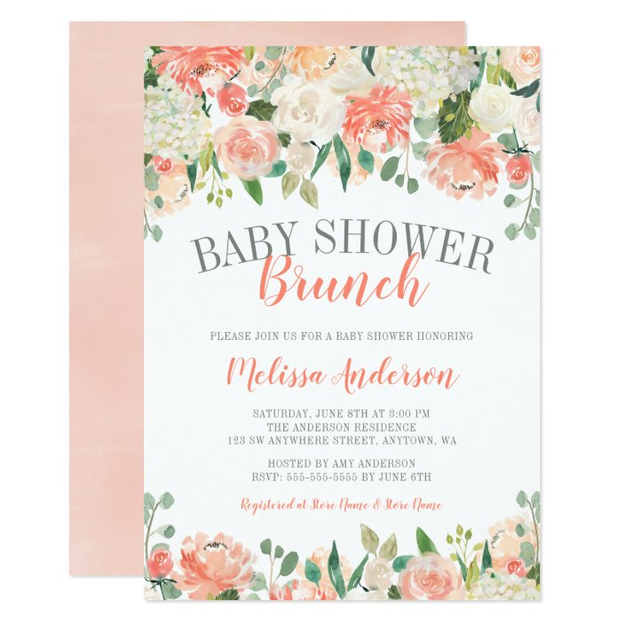 Pastel Watercolor Flower Brunch Baby