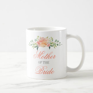 Pastel Watercolor Flowers Mother of the Bride Coffee Mug