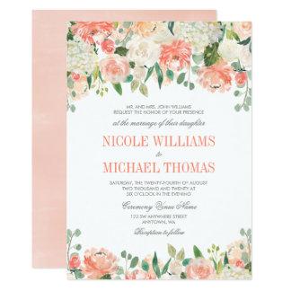 Pastel Watercolor Flowers Wedding Invitations