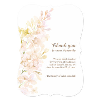 Pastel Watercolor Lilacs Bereavement Thank You Card
