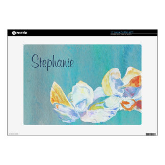 Pastel Watercolor Seashell Still-Life Decal For Laptop