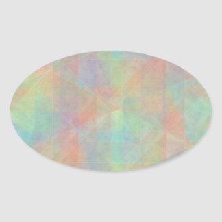 Pastel Watercolor Shapes Abstract Art Oval Sticker