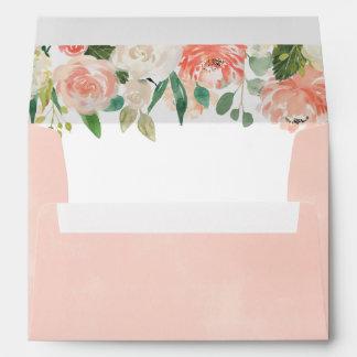 Pastel Watercolor Wedding Return Address A7 Envelope