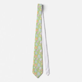Pastel Watercolour Painted Easter Egg Pattern Neck Tie