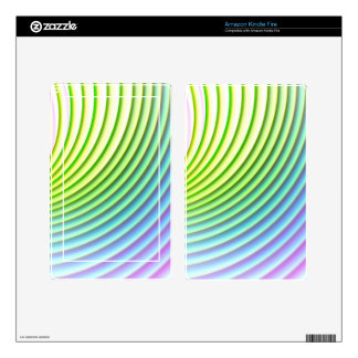 Pastel wave swoosh background stripes pattern decals for kindle fire