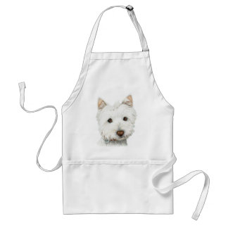 Pastel Westie Dog Adult Apron
