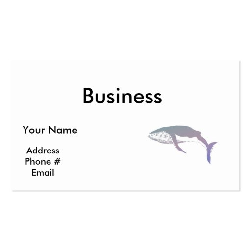 pastel whale design business card templates