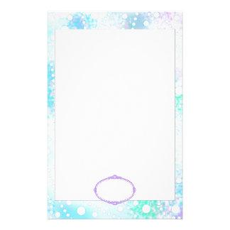 Pastel & White Spray of Polka Dots Custom Pattern Customized Stationery