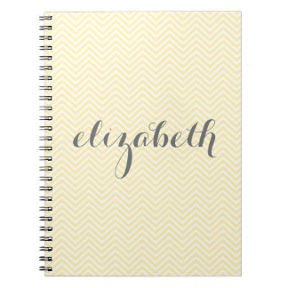 Pastel Yellow and Gray Stationery Suite for Women Notebook