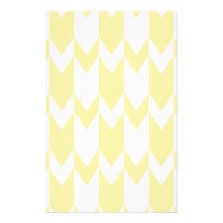 Pastel Yellow and White Chevron Pattern. Personalized Flyer